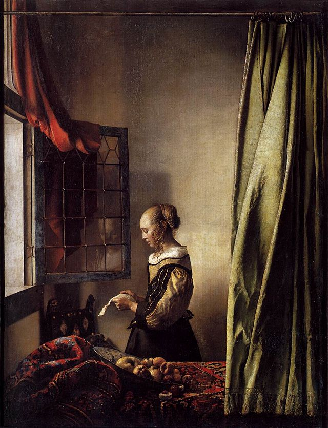 Johannes Vermeer - 'Girl Reading a Letter at an Open Window'