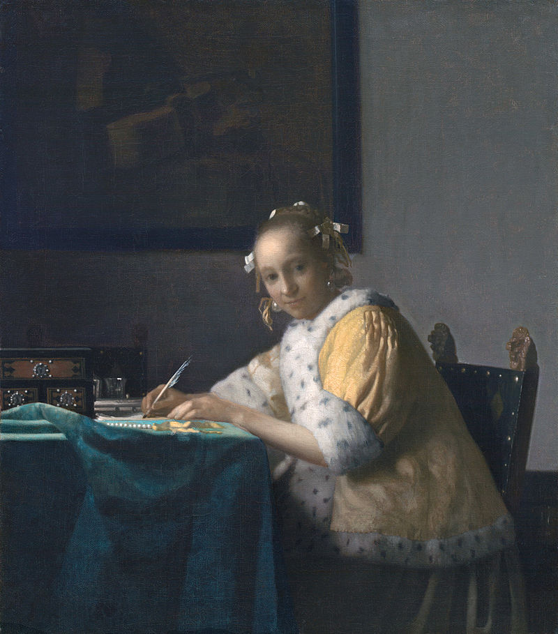 Johannes Vermeer 'A Lady Writing' c 1665