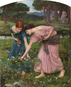 Waterhouse 'Gather Ye Rosebuds'  1909