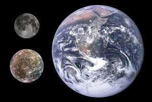 Earth, the Moon and Callisto