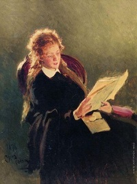 'The reading Girl' by Repin
