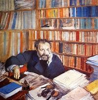 Edgar Degas Portrait of Duranty