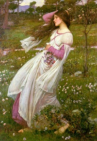 Windswept - by John William Waterhouse