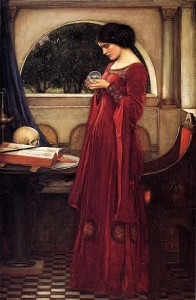 John William Waterhouse, 'The Crystal Ball'