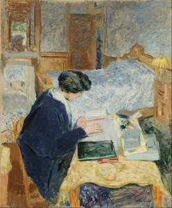 Edouard_Vuillard_-_Lucy_Hessel_Reading_(Lucy_Hessel_lisant)_-_Google_Art_Project