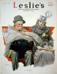 'Fact and Fiction' - Norman Rockwell, 1917