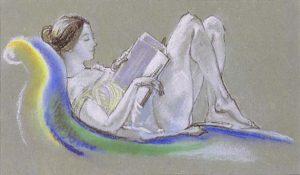 arthur_b-_davies_-_reclining_woman_drawing_1911